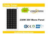 TUV&Ceの証明書が付いている230W TUVのセリウムのモノラル太陽電池パネル