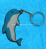 Animal Keychain do golfinho do macaco do elefante do cão do gato
