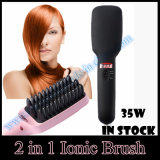2 em 1 Ionic Head Massage Function Hair Straightener Brush