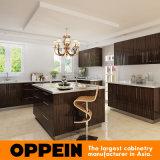 L'impiallacciatura di legno HPL del fornitore di Guangzhou comercia l'armadio da cucina all'ingrosso modulare (OP15-HPL07)