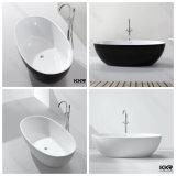 Bañera libre de la ducha de la situación de la superficie sólida de acrílico blanca