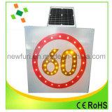 LED Solar velocidade limitada sinal de tráfego