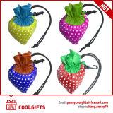 Bolso plegable colorido de la fresa del poliester 190t para el regalo promocional