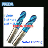 60HRC Nano Coated 4 Flutes Ball Nose Ende Mills