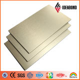 Materiale composito di alluminio materiale spazzolato rivestimento Nano del PE PVDF di Ideabond