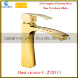 Cuarto de baño Golden Deck Mounted Wash Basin Faucet