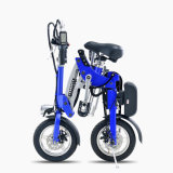 Motocicleta elétrica Foldable colorida da bicicleta de 12 polegadas