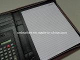 Chemise de fichier en expansion fermée la fermeture éclair de panneau de cuir d'unité centrale