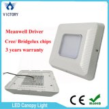 Gas Station를 위한 Retrofit Meanwell Bridgelux 130W LED Canopy Light를 주문을 받아서 만드십시오