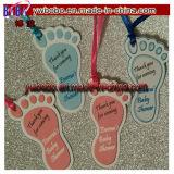 Tag personalizados do presente do favor do aniversário do batismo do chuveiro de bebê das pegadas (BO-2003)