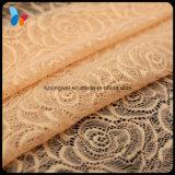 Laço tingido elástico da forma do laço macio colorido da tela para o roupa interior