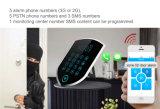 El telclado numérico 2016 del tacto del control del APP G/M sin hilos SMS se dirige el sistema de alarma de la seguridad de la casa