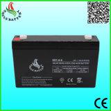 6V 7.0ah AGM-nachladbare gedichtete Leitungskabel-Säure-Batterie