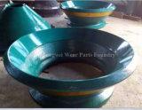 Peças do triturador do cone do aço de manganês para o setor mineiro
