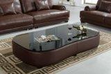 Sofà di cuoio di lusso della nuova di disegno mobilia del salone
