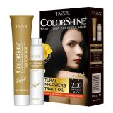 Teinture de cheveu permanente cosmétique de Tazol Colorshine (noir normal) (50ml+50ml)