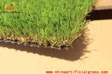 Verde do revestimento do tempo do partido e esteiras artificiais misturadas da grama de Brown