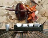Het naadloze Geweven /PVC Behang /Murals dat van /3.2m /Non Materiaal afdrukt