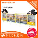 Compartiment de stockage de modèle de train de support d'affichage d'enfants de qualité