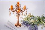 De gouden Houder van de Kaars van het Glas van Vijf Affiche voor de Decoratie van het Huwelijk