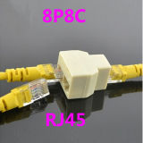 Fabricante 8p8c RJ45 Network Splitter Network Cable Connector