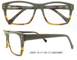 Eyeglasses de madeira das dobradiças flexíveis populares da Cheio-Borda dos frames dos vidros óticos do desenhador