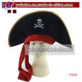 Rifornimento del partito del cappello del partito di Halloween del cranio del pirata di carnevale (C1002)