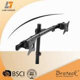 Support horizontal incurvé de bureau d'alignement de moniteur de quarte de rail (LDT08-C04)