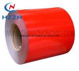 Prepainted電流を通された鋼鉄コイル赤いカラー