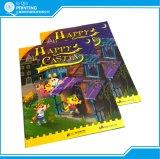 Livro dos desenhos animados da criança da cor cheia