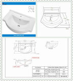 Dispersore della parte superiore di vanità del lavabo della porcellana con la certificazione di Cupc (SN1528-55)