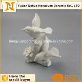 Mestiere di ceramica bianco dell'uccello della decorazione del giardino