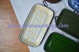 Sunboat 직사각형 접시 사기질 격판덮개 사기질 접시 버터 접시 쟁반