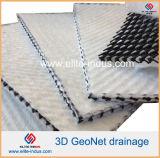 Géotextile de composé de filet de drainage de noyau de Geonet de HDPE de Vierge