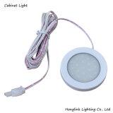 Matten-weißes rundes Schrank-Plastiklicht 12V 1.5W SMD LED