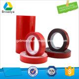 cinta transparente roja de Vhb del ácido de acrílico de la película de 1.0m m (BY3100C)