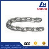 6mm Keten van de Link van het Roestvrij staal DIN763 van de Diameter SUS304 de Standaard