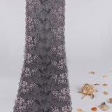 Подгонянный Bi-Color шнурок маркизета ткани сетки цветка швейцарский