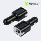 Caricatore doppio dell'automobile del USB QC3.0 di Qualcomm per il telefono mobile