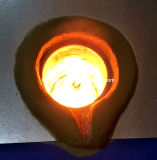 horno de inducción de frecuencia media 25kg para la fusión de acero