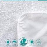 protetor impermeável acolhedor branco do colchão do algodão 160GSM