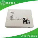 Коробка подарка твердого бумажного картона печатание оптового изготовленный на заказ логоса малая черная напечатанная упаковывая