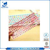 Escritura de la etiqueta impermeable modificada para requisitos particulares de la etiqueta engomada del teclado del PVC
