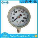 2inch-50mm 회색 강철 케이스 바닥 유형 400 Psi 암모니아 압력 계기