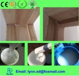 Adhésif blanc de colle d'Ecotypic avec des meubles de travail du bois