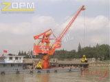 Guindaste portuário marinho de flutuação da plataforma