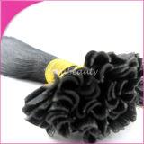 自然な黒Uの先端のケラチンのブラジルのRemyの毛