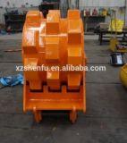 Tassement de roue de roue de compacteur d'excavatrice