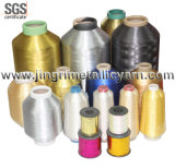 Silver pur Pure Gold Metallic Yarn avec Cotton ou Polyesor Viscose Rayon Core