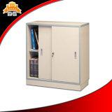 Шкаф низкого половинного кухонного шкафа высоты малого стального миниого сползая стеклянный с 2 дверями